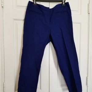 Chico's Blue Cropped Capris pants Sz 1.5 10/12